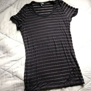 WILFRED FREE Striped burn out long tee Aritzia